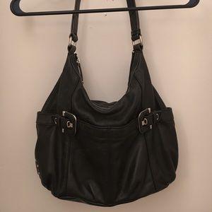 Tignanello Black Leather Purse